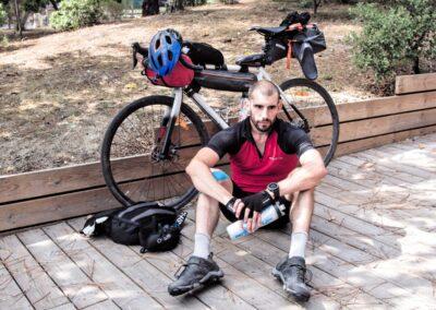 julien rabier parcours sportif tir à l'arc running trail cyclisme