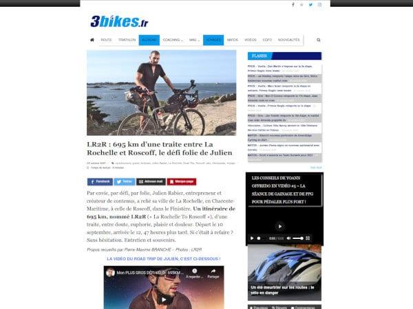 revue de presse lr2r julien rabier 3bikes