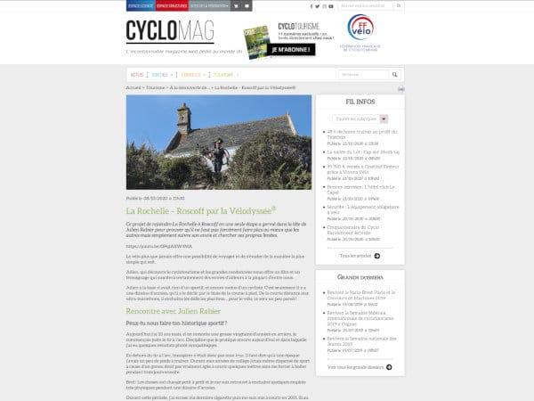 revue de presse lr2r julien rabier ffvelo cyclomag